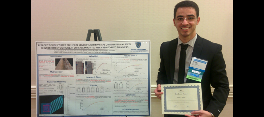 Rafael Salgado's Best Poster Award at ACI Convention in Philadelphia, PA (November 2016)
