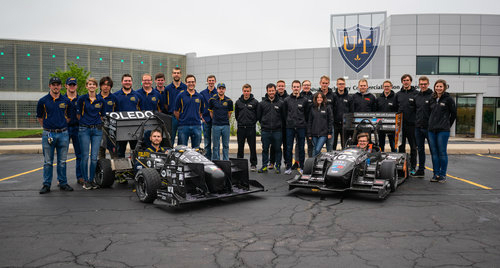 Rocket Motorsports team with formula cars