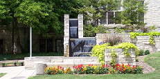 University Hall Fountain Landscaping