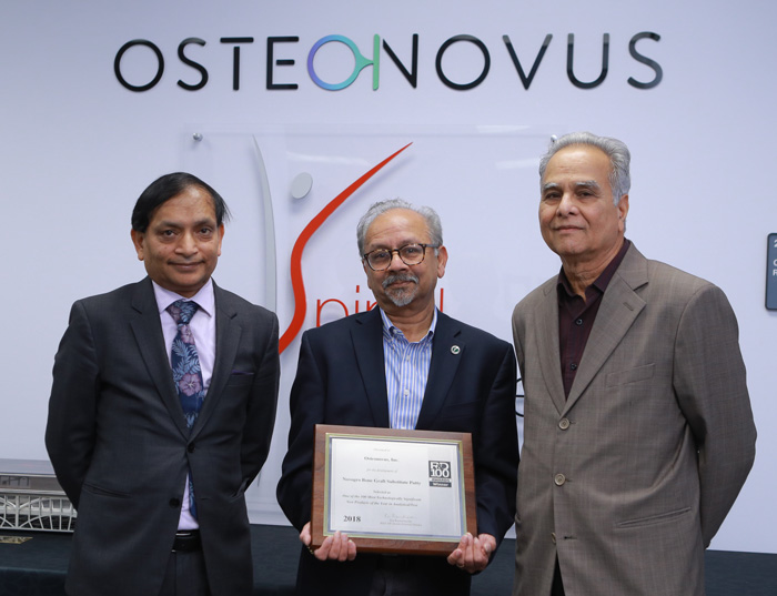 Dr. Sarit Bhaduri receiving an award