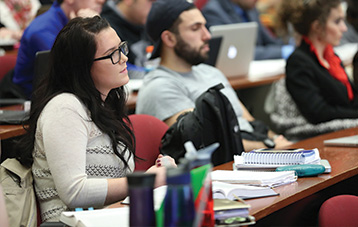 Photo of student in a lecture