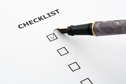 Checklist, Resources for New Graduate Students