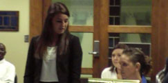 three females in court room setting