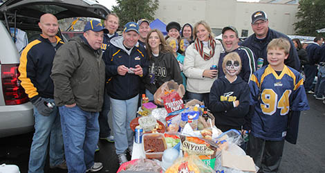 Tailgating at the homecoming game