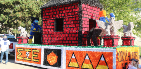 Fall 2019 Rocky's Haunted Homecoming Float created by Sigma Phi Epsilon and Delta Delta Delta