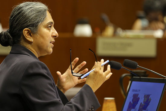 Dr. Sujata Shetty presenting to Toledo City Council