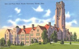 Postcard of University Hall