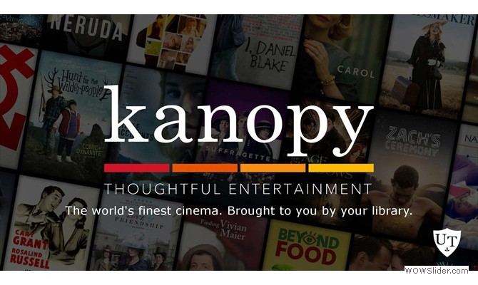 We now have access to Kanopy, a streaming video service with more than 30,000 titles!