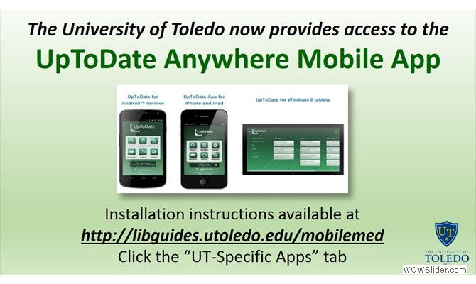 UpToDate Anywhere Mobile App