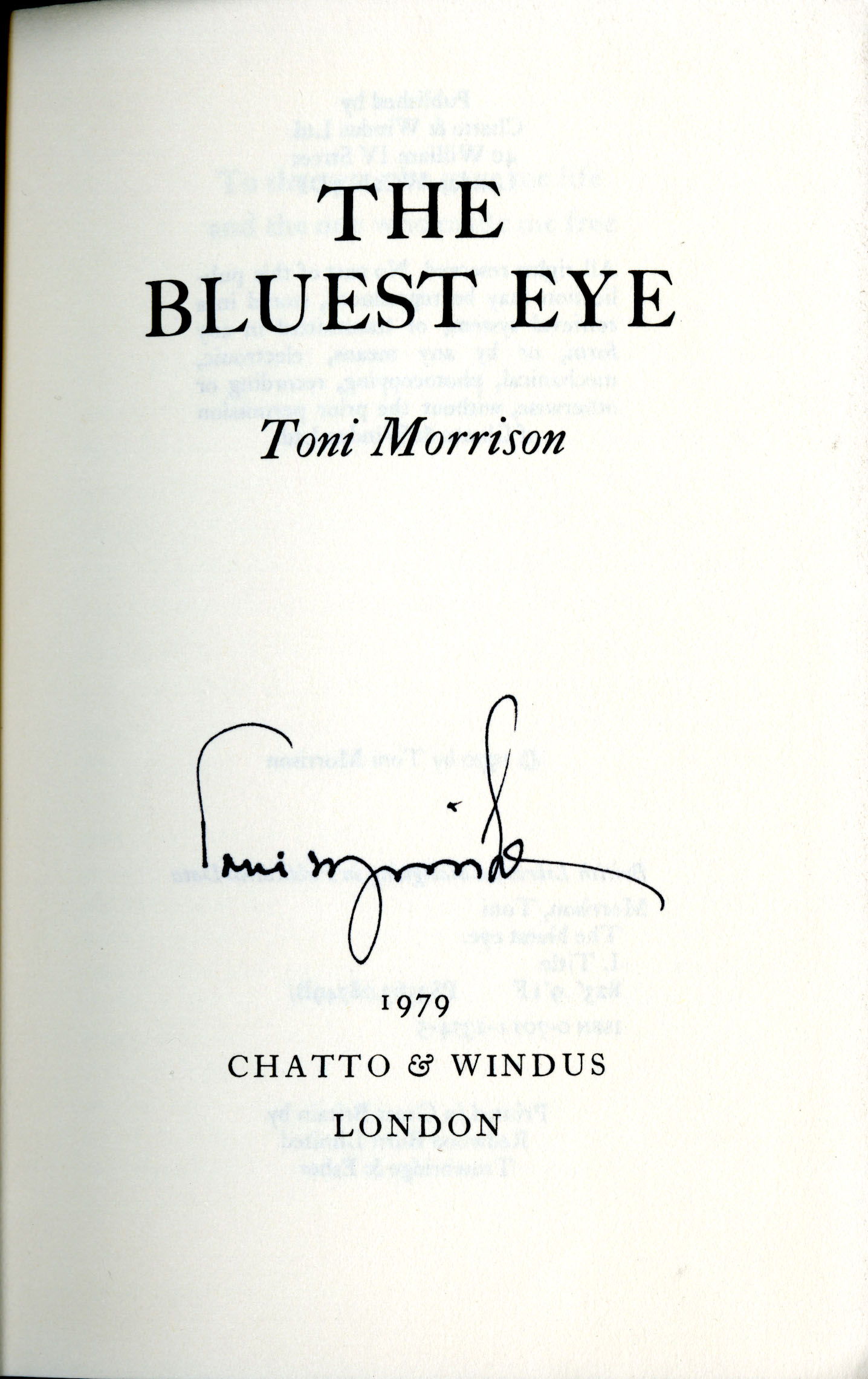 a literary analysis of the bluest eye by toni morrison Of toni morrison's 1970 novel the bluest eye, and using feminist and  toni  morrison's biography and publications   it is a literary analysis that identifies.
