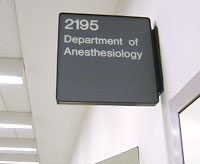 2195 Department of Anesthesiology Picture