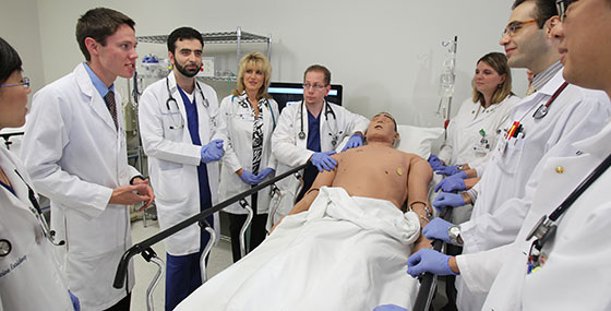 Residents in Simulation Center