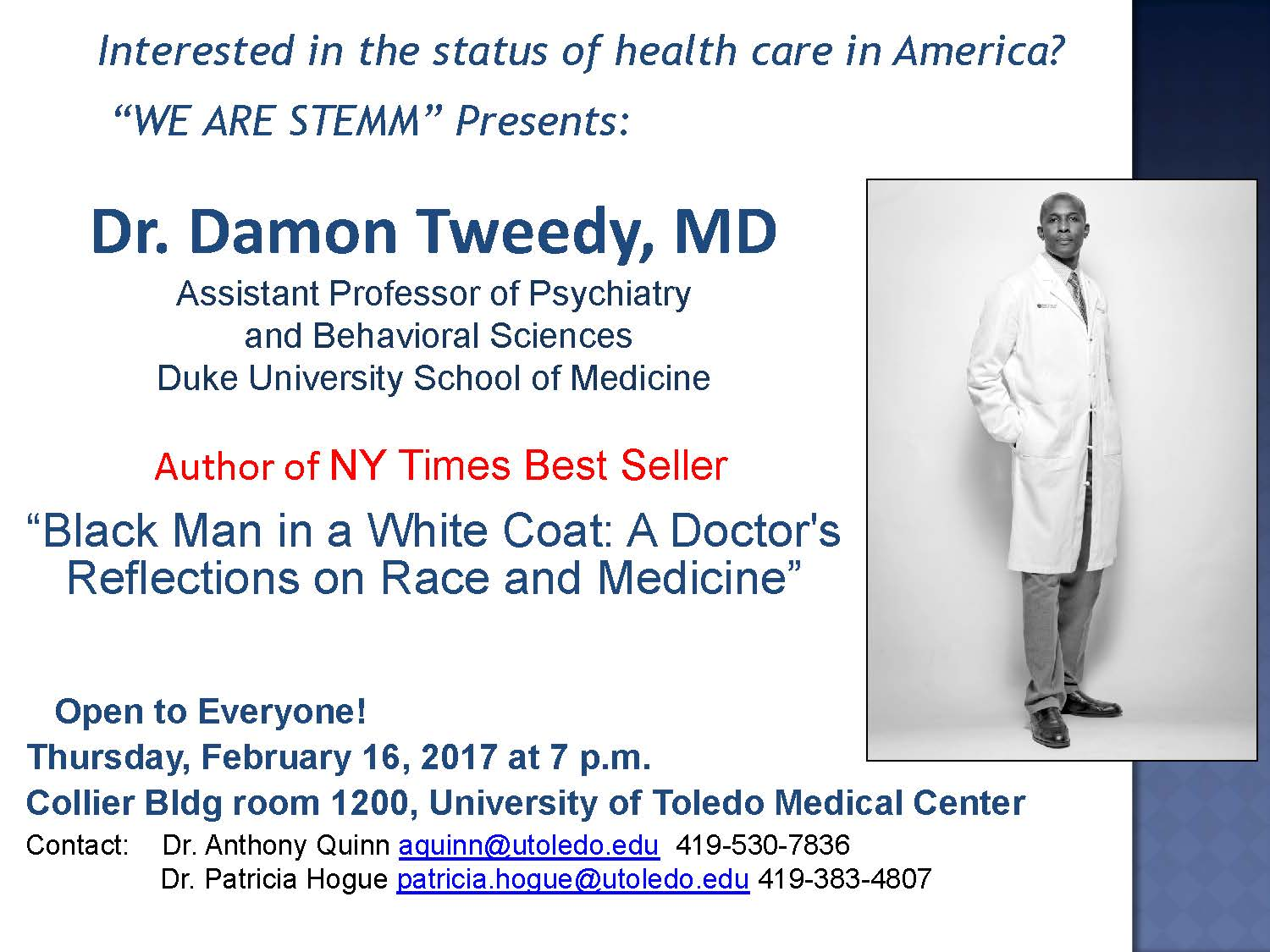 Dr. Damon Tweedy MD