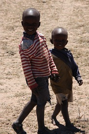 two small African boys