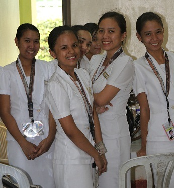 young women in clinic