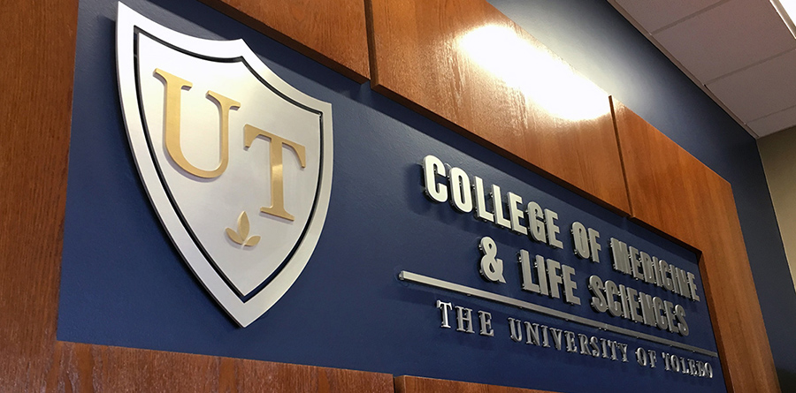 College of Medicine and Life Sciences sign