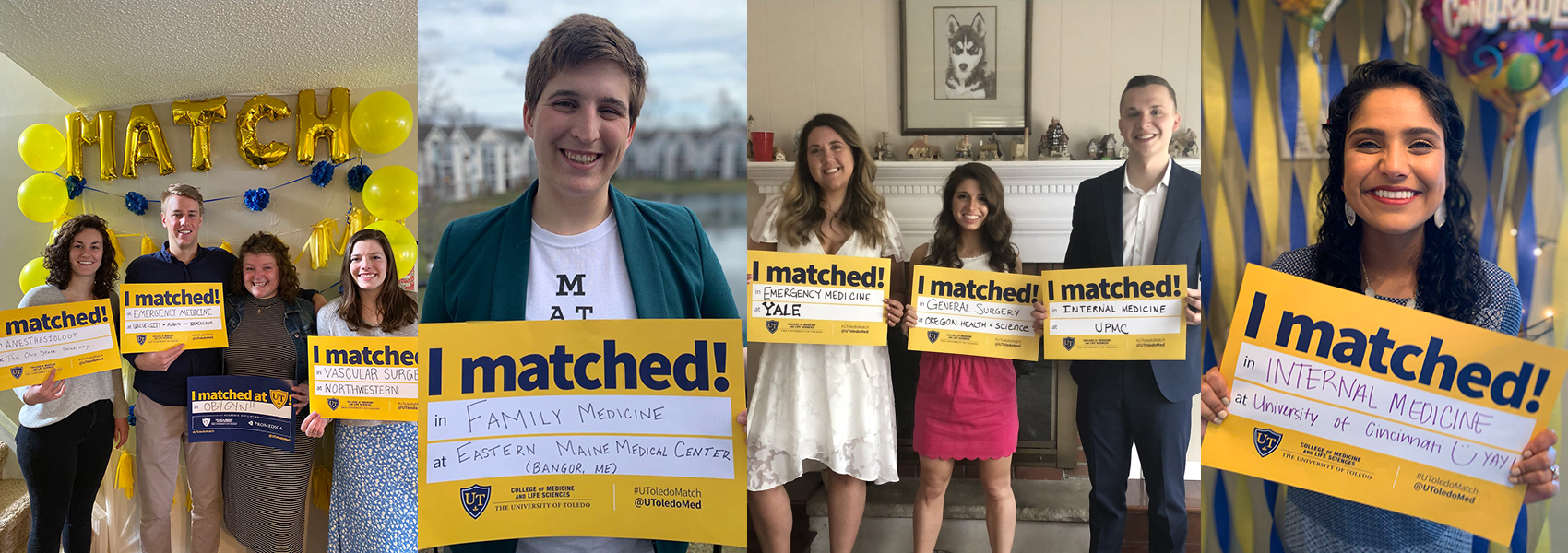 Photo of University of Toledo students for Match Day 2020