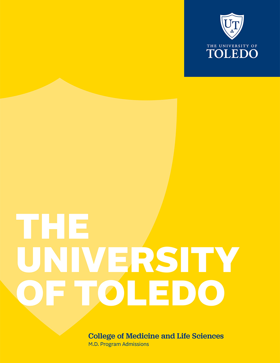 Front cover of the UToledo Medical School Admissions Viewvbook