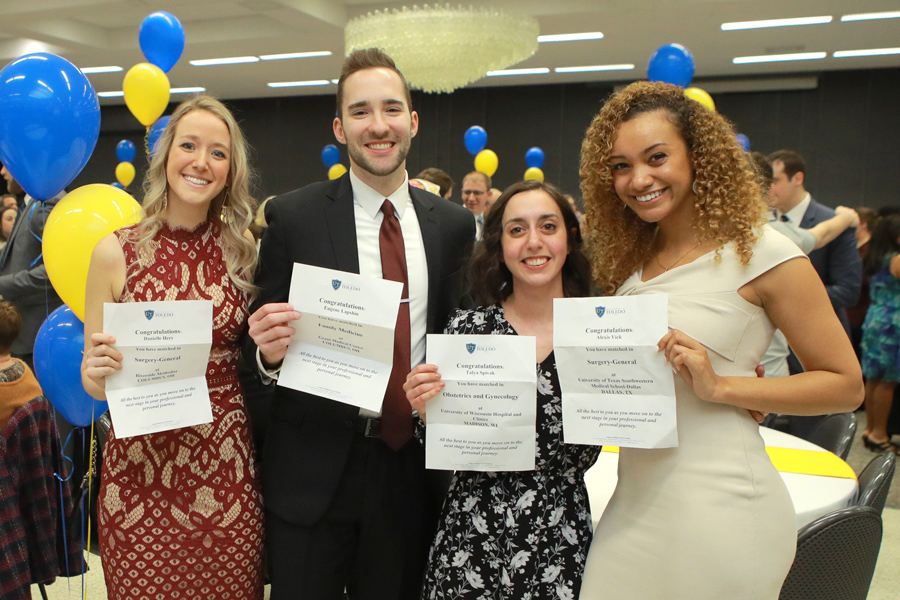 Photo of University of Toledo students at Match Day 2019.
