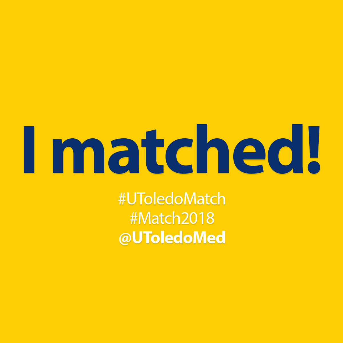 Match Day 2018 social media image