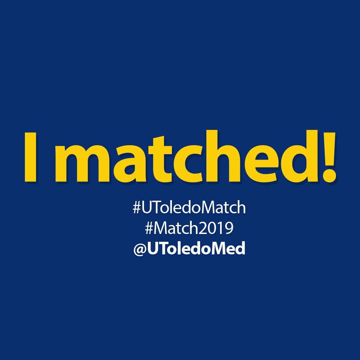 Match Day 2019 social media image