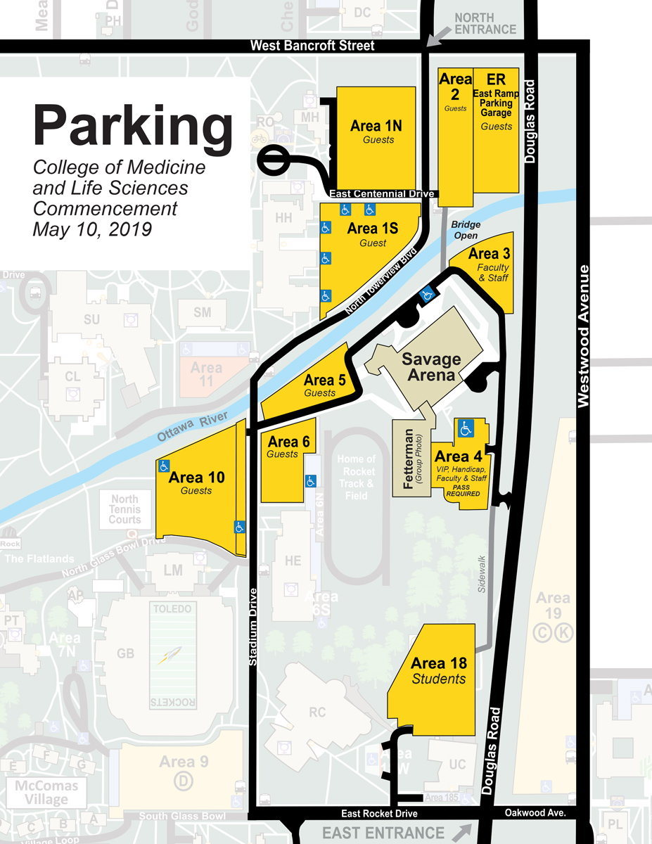 Parking for College of Medicine Commencement