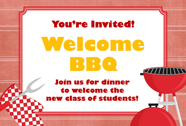 You're Invited! Welcome BBQ