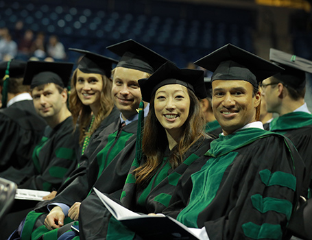 College of Medicine and Life Sciences students at Commencement