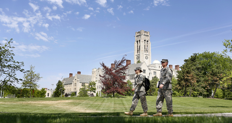 Military Walk Across Campus