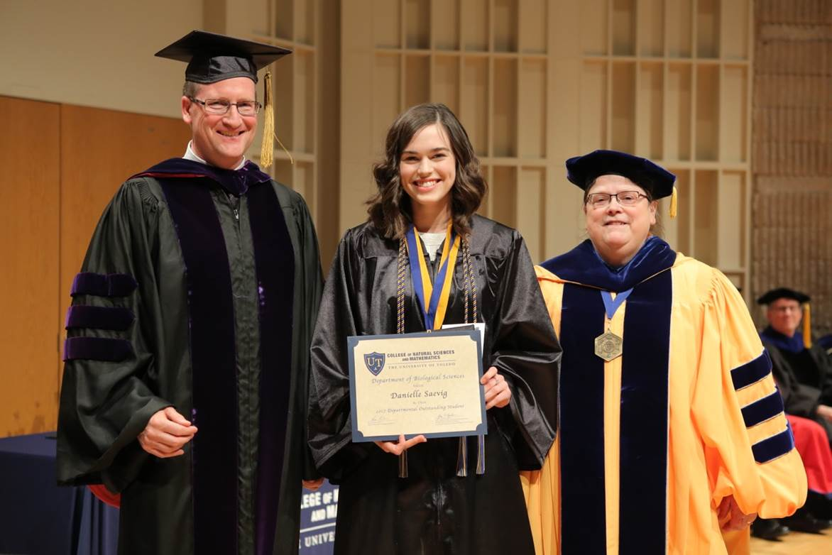 Department of Biological Sciences Outstanding Graduating Student for 2015, and Deans Medalist Finalist