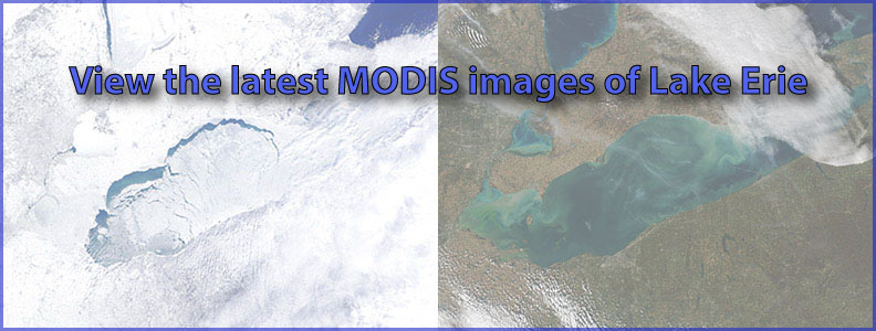 Lake Erie MODIS images
