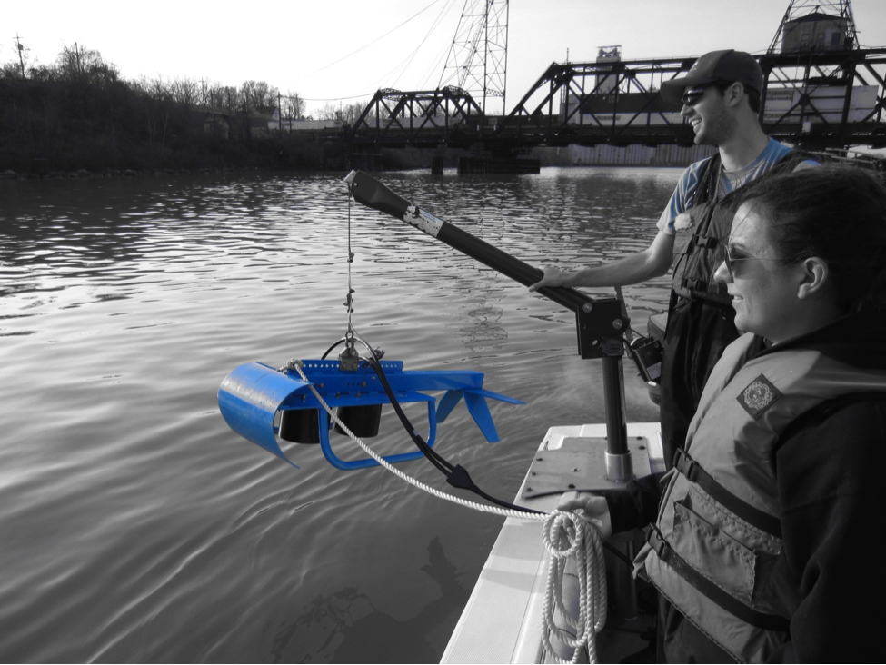 sampling on the Maumee River