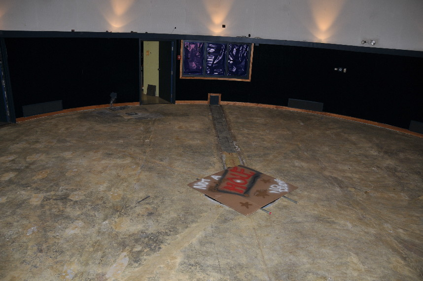 The Ritter Planetarium theater stripped