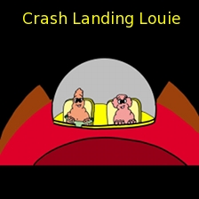 Crash Landing Louie Banner