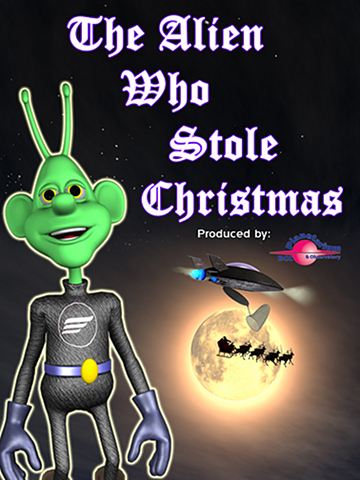 Alien Who Stole Christmas Banner