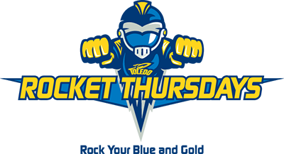 Rocket Thursdays. Rock Your Blue and Gold.