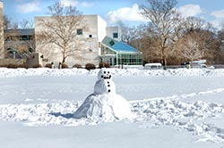 Snowman on The University of Toledo Health Science Campus