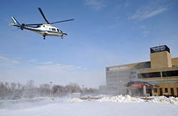 Life Flight landing The University of Toledo Health Science Campus