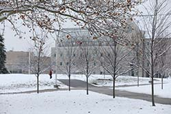 Centennial Mall winter scene