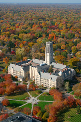 University Hall in fall