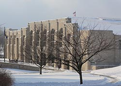 Memorial Field House winter scene