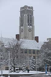 University Hall winter scene