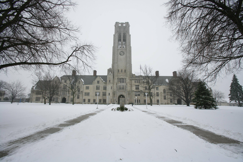 The University of Toledo Winter Scenes