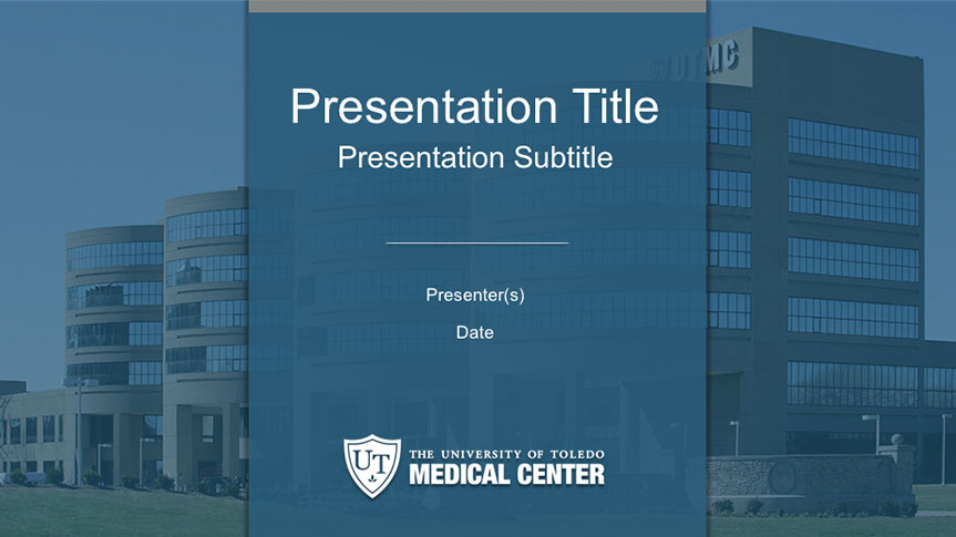 Sample slide of the UTMC Powerpoint