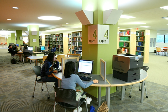 inside Carlson Library