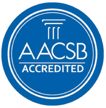 College of Business Administration (COBI) is accredited by The Association to Advance Collegiate Schools of Business (AACSB) Logo