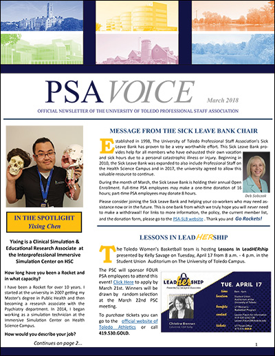PSA Voice Cover - March 2018
