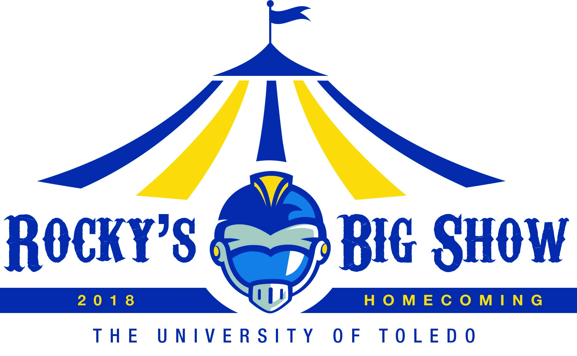 Under the big top UT 2018 homecoming logo