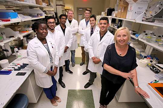 Dr. Czernik and her Research Team