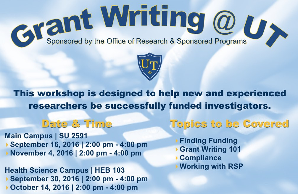Grant Writing @ UT Workshop